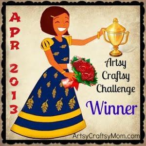 Artsy-Craftsy April 2013 Winners