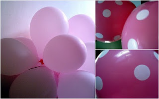 Birthday party - Pink , Dots
