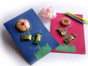 Candy Treat Teachers day card