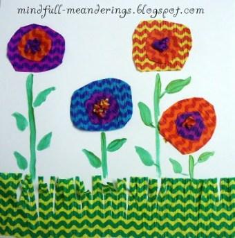 Simple Flower Teacher's Day card - Handmade