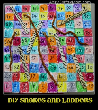 DIY snakes and ladders