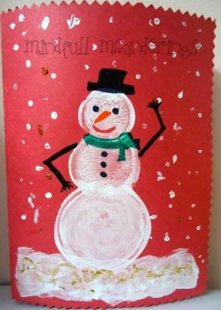 DIY card ideas - Snowman card - Christmas