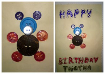Button cards by Swapna & her daughter A