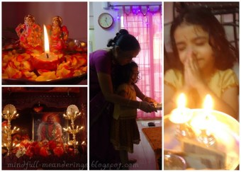 Diwali moments - Celebrations in an indian house