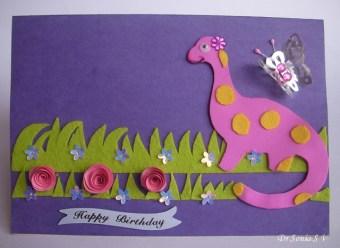 handmade dinosaur card