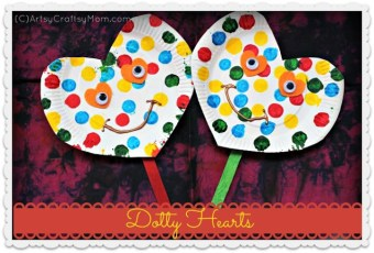 Valentine's Crafts- Dotty Heart & Heart flowers