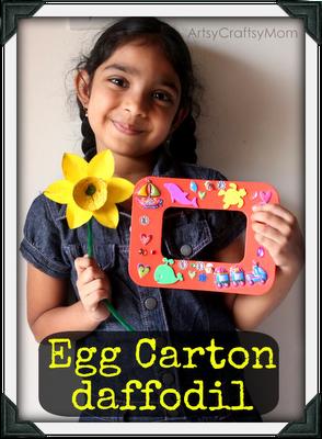 DIY photo frame & egg carton daffodils – Craft Class 8