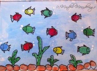 Finger painting – Aquarium