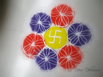rangoli easy - step by step