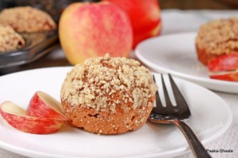 Apple oatmeal streusel muffins