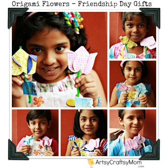 Origami Flowers – Gift for friendship's day