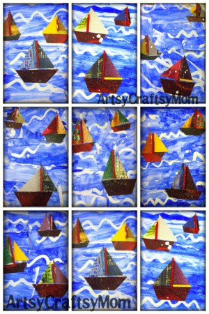 Lets go a sailin – Craft Class 10