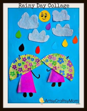 Rainy Day Paper Collage Art for Kids