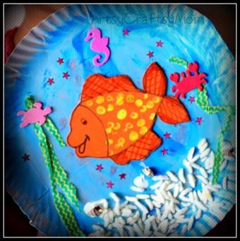 Paper Plate Aquarium Fish Diorama