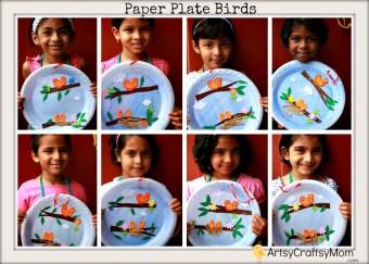Paper Plate Bird Hanging