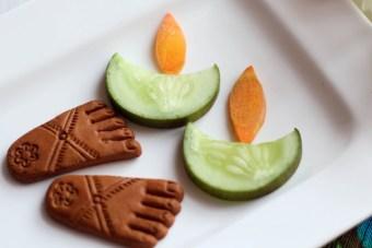 cucumber diwali diya salad