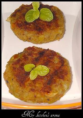 Grilled vegetable tikki