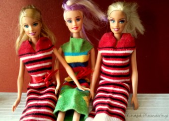 No Sew Barbie Dress