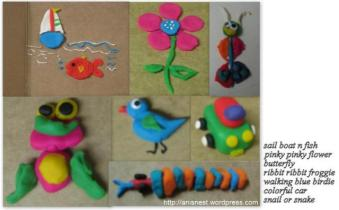Play Dough Crafts by Adi and Ani