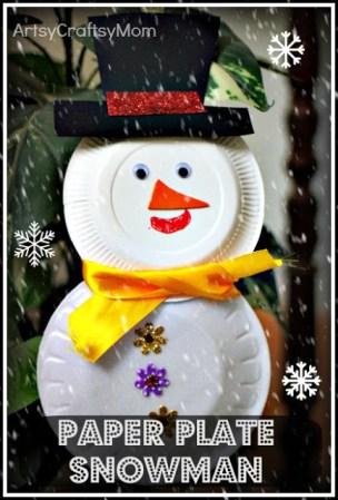 Paper plate snowman & cup reindeer – Craft class