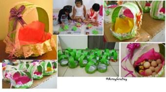 Paper Plate Basket craft – Entry by Kanchan Yadav