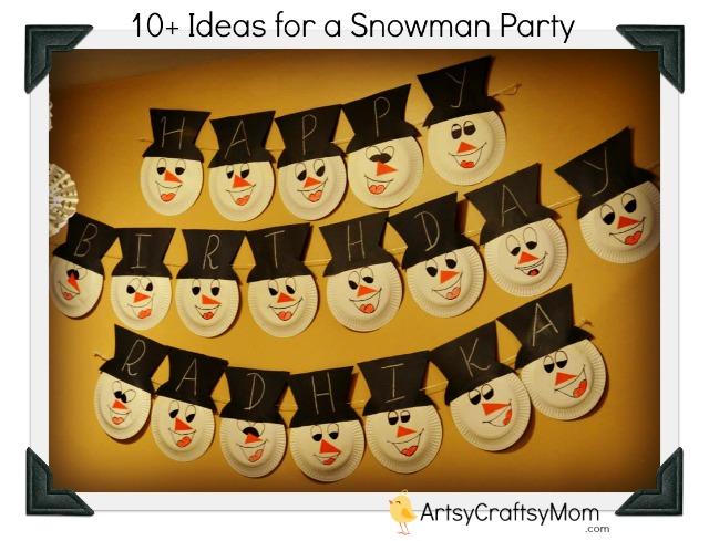 Snowman-theme-birthday-party
