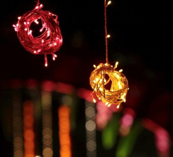 Creative decor ideas with string lights