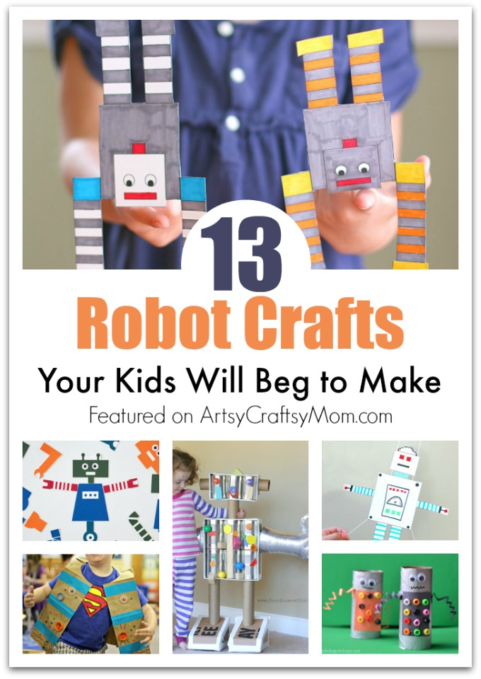 how to make a easy robot with paper