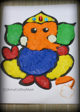 | Clay Creations Festivals of India | via ArtsyCraftsyMom.com - Ganesh Chaturthi Crafts and Activities to do with Kids - Make a Clay Ganesha, decorate, Ganesha's throne & umbrella, rangoli ideas, recipes, books and more