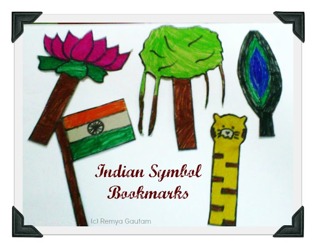 IndianSymbolBookmarks | Indian National Symbol bookmarks Entry by Remya Gautam | India Crafts Age7 10 Age5 7 Age3 5
