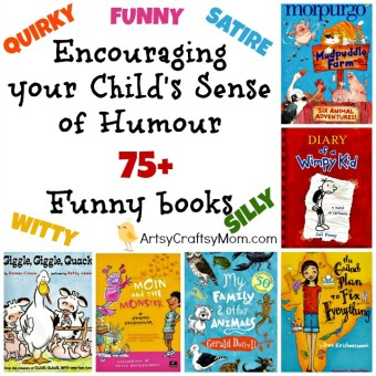 Encouraging your Child's Sense of Humour - 75+ Funny books