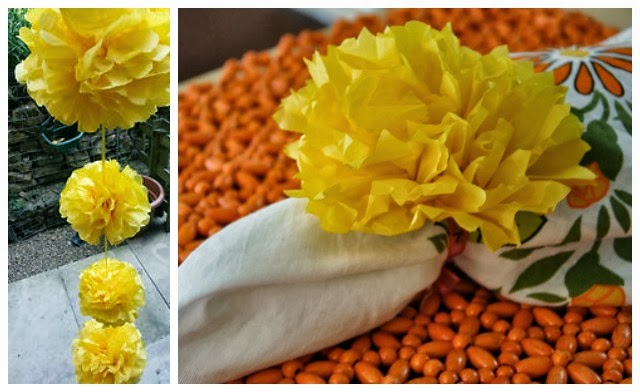 Day 4 DIY Paper Marigold Flowers for Dussehra and Diwali21 Navratri Dussehra Activities and Crafts to get your child involved in the festivities- crafts, puppets and activities that are both fun and educational.