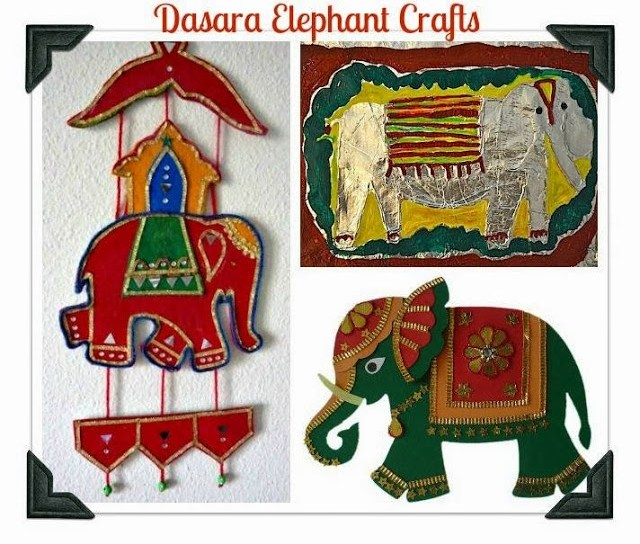 Dasara Elephant Crafts Mysore Dussehra Navratri Mysore - 21 Navratri Dussehra Activities and Crafts to get your child involved in the festivities- crafts, puppets and activities that are both fun and educational.