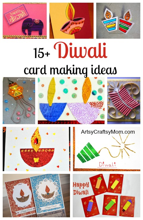 15+ Diwali card making ideas - Diwali Dhamaka