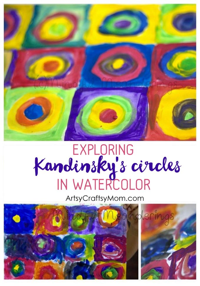 Kandinsky S Water Color Circles Artsy Craftsy Mom