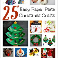 25 Easy Paper Plate Christmas Crafts for kids