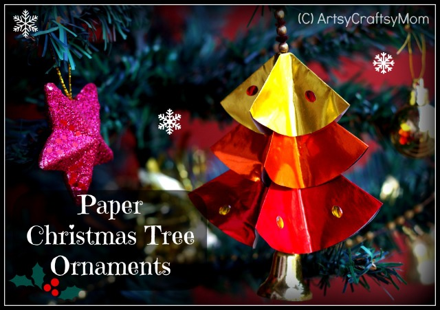 Diy paper christmas tree ornaments artsy craftsy mom diy paper christmas tree ornaments solutioingenieria Gallery