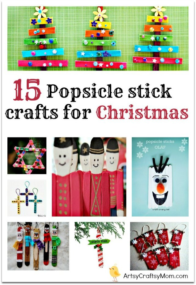 15 Popsicle stick crafts for Christmas | 15 Easy Popsicle stick crafts for Christmas | Craft Stick #ChristmasCrafts