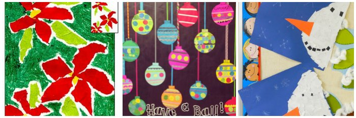 30 Christmas Paper Collages For Kids Artsy Craftsy Mom