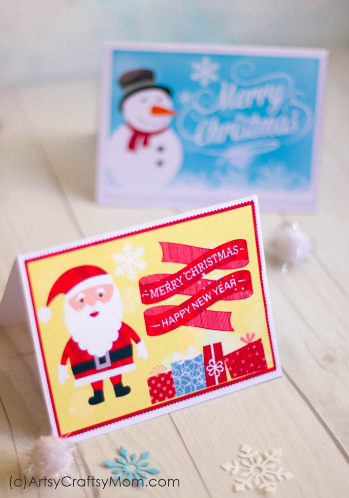 free christmas cards to print at home