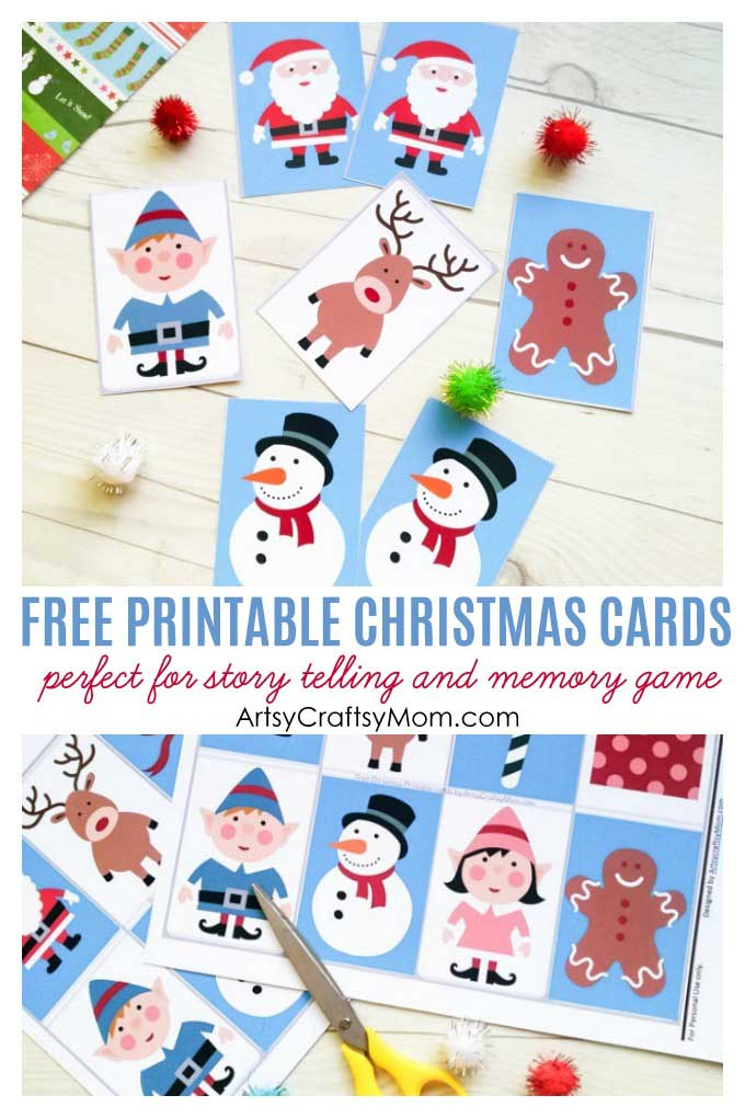 photograph regarding Memory Games Printable called No cost Xmas Printable playing cards for Storytelling and Memory