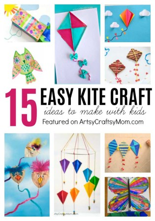 15 Simple Kite Craft Ideas for kids - Homemade ideas using paper bags, plastic, Straw & some that really fly! Perfect for Sankranti Kite Flying
