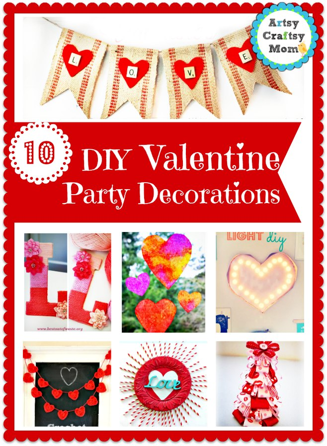 10 DIY Valentine Party Decorations