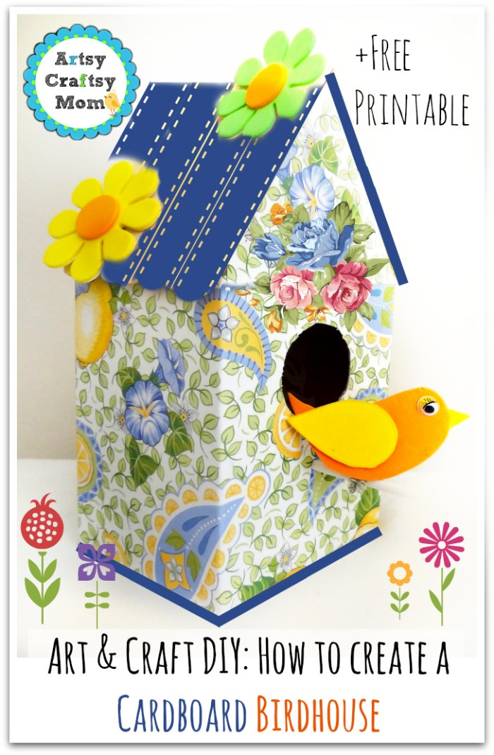 How to make a cardboard birdhouse