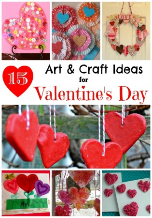 15 Simple Valentine's Day Art and Craft Ideas for Kids