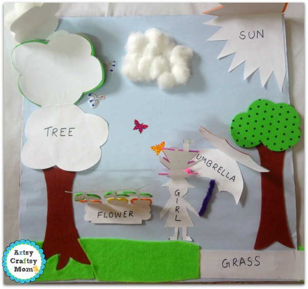 How to Make a Lift the Flap Book - spring