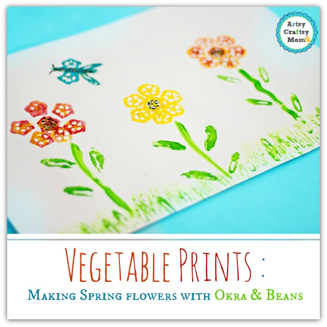 Vegetable Prints : Making Spring flowers with Okra & Beans - Artsy on meat printing, 4d printing, 3d printers printing, 3d home printing, pumpkin printing, full color printing, tampon printing,