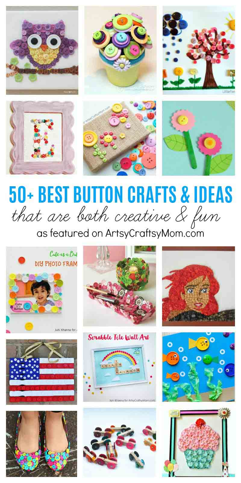50 Best Button Craft Ideas That Are Both Creative Fun