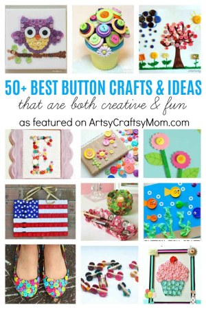 50+ Best Button Craft Ideas that are Both Creative & Fun