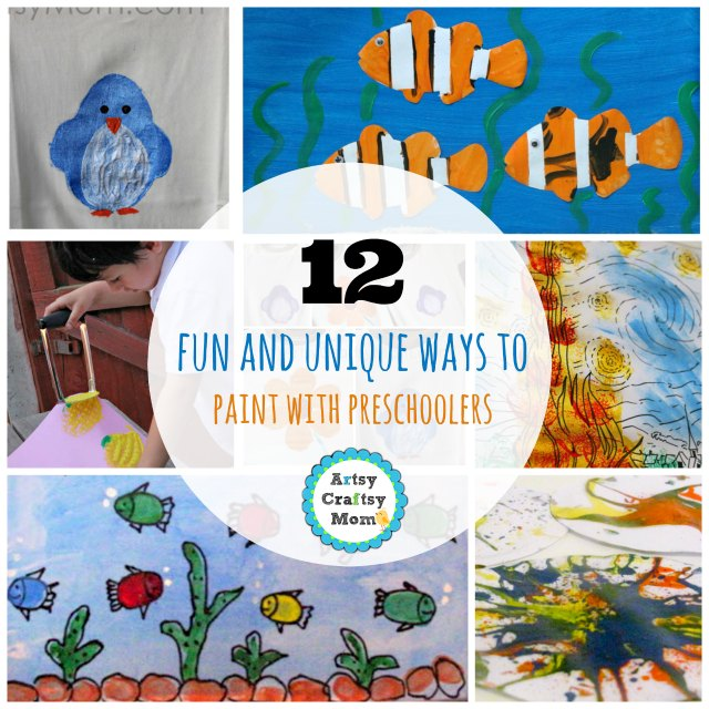 12 fun and unique ways to paint with preschoolers1